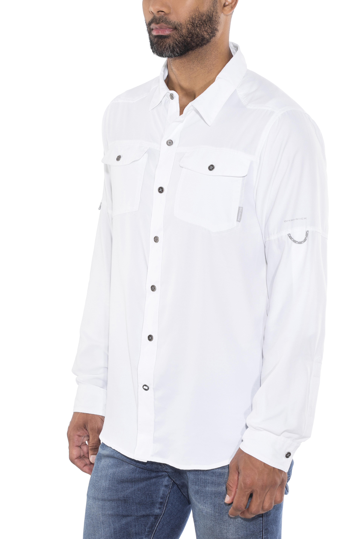 Columbia Pilsner Peak II - Camiseta de manga larga Hombre - blanco ... 279283b1880